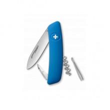 Нож складной Swiza D01, голубой, 6 ф., штопор