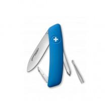 Нож складной Swiza D02, голубой, 6 ф., отвертка