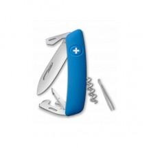Нож складной Swiza D03, голубой, 11 ф., штопор