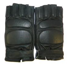 Перчатки без пальцев черные р. 10