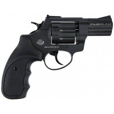 Револьвер под патрон Флобера Stalker  S 4 мм 2, 5 (черная рукоятка) силуминувый барабан