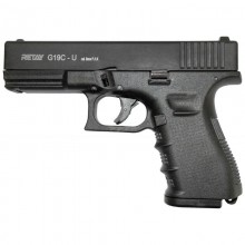 Пістолет стартовий Retay G 19 C черний, 14-зарядный