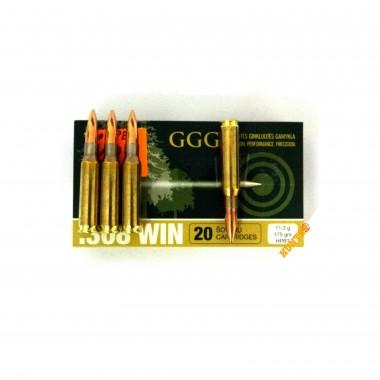 Патрон нарезной GGG к.308Win 175 г (11,3 г) HPBT 20 шт/уп