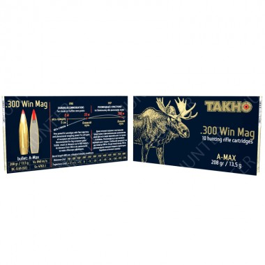 Патрон нарезной Тахо 300Win Mag A-Max 208gr/13,47г (10шт)