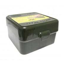 Кейс МТМ универсальный для 25 патронов 12к, 16к, 20к зеленый