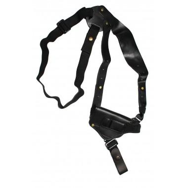 Кобура оперативная кожаная универсальная с кожаным креплением ПМФ (со скобой)