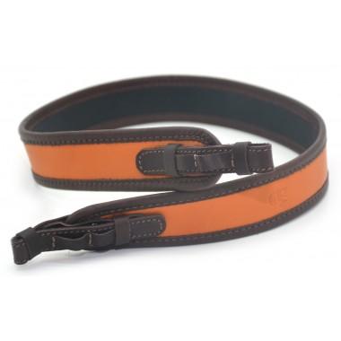 Ремень оружейный прямой, кожаный, гидрофобный (оранжевый)