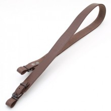 Ремень оружейный прямой, кожаный (коричневый)