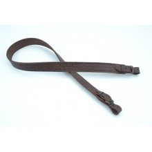 Ремень оружейный прямой, кожаный, тисненый №4 (коричневый)