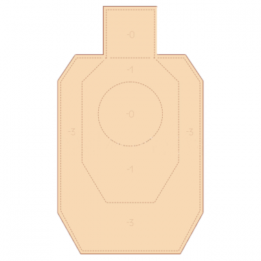Мишень картонная IDPA 50%