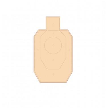 Мишень картонная IDPA мини