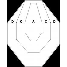 Мишень картонная IPSC классическая (белая)