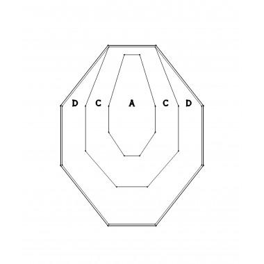 Мишень картонная IPSC классическая 50% (белая)