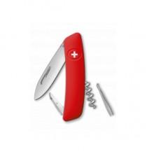 Нож складной Swiza D01, красный, 6 функций, штопор