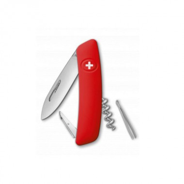 Нож Swiza D01, красный, 6 ф., Штопор
