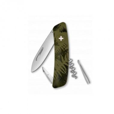 Нож Swiza C01, хаки silva, 6 ф., Штопор