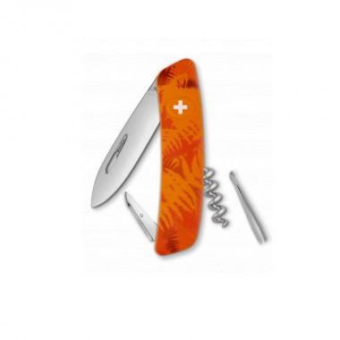 Нож Swiza C01, оранж. filix, 6 ф., штопор