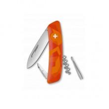 Нож Swiza C01, оранж. luceo, 6 ф., штопор