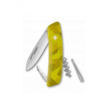 Нож Swiza C01, желтый velor, 6 ф., Штопор