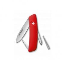 Нож складной Swiza D02, красный, 6 ф., отвертка