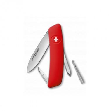 Нож Swiza D02, красный, 6 ф., Отвертка