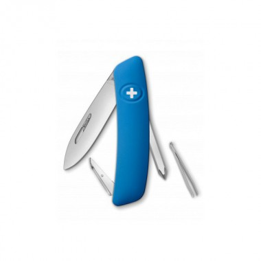 Нож Swiza D02, голубой, 6 ф., Отвертка