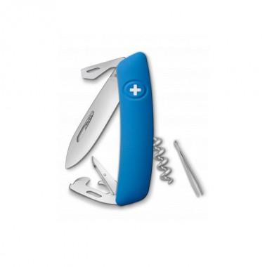 Ніж Swiza D03, блакитний, 11 ф., штопор