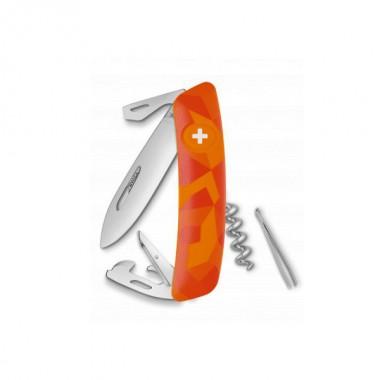 Нож Swiza C03, оранж. luceo, 11 ф., штопор
