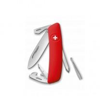 Нож Swiza D04, красный, 11 ф., Отвертка