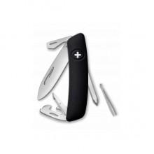 Нож Swiza D04, черный, 11 ф., Отвертка