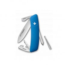 Нож Swiza D04, голубой, 11 ф., Отвертка