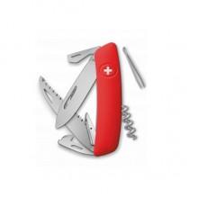 Нож Swiza D05, красный, 12 ф., Пила / штопор