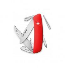 Нож Swiza D06, красный, 12 ф., Пила / отвертка
