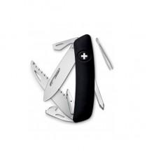 Нож Swiza D06, черный, 12 ф., Плитка / отвертка