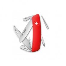 Нож Swiza J06, красный, 12 ф., Пила / отвертка