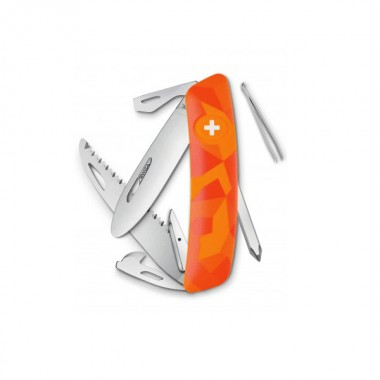 Нож Swiza J06, оранж. luceo, 12 ф., пила / отвертка