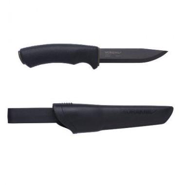 Нож Morakniv Bushcraft Black Carbon Steel (углеродная сталь, цвет клинока чёрный)