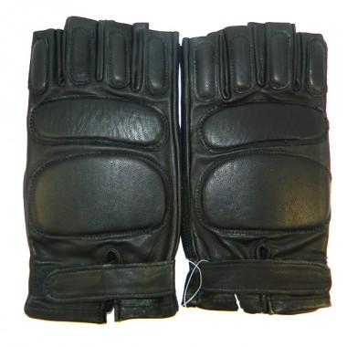 Перчатки без пальцев черные р.10