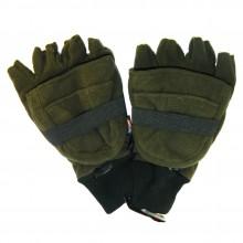 Рукавиці без пальців / капюшон ForMax зелені резин