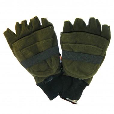 Перчатки без пальцев / капюшон ForMax зеленая резинка