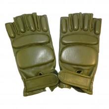 Перчатки без пальцев хаки р. 10
