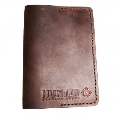 Обложка на паспорт кожаний Хантер