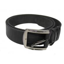 Ремінь чоловічий шкіряний 100см чорний 7201