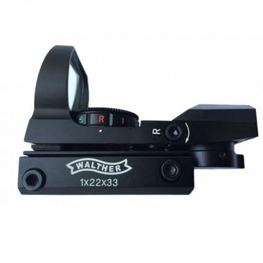Прицел колиматорный Walther 1х23x34 / 4 марки,вуз 12 мм