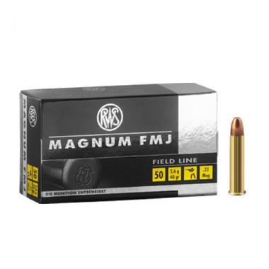 Патрон нарезной RWS Magnum 22WMR FMJ 40gr/2,6г (50шт)