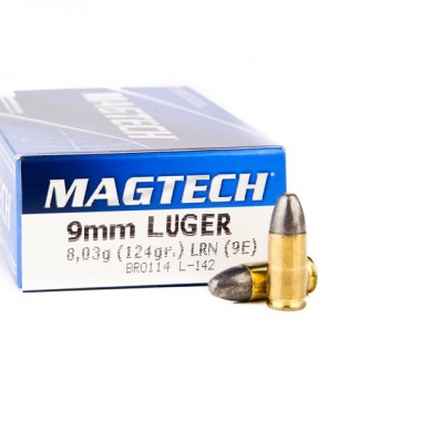 Патрон нарезной Magtech кал.9mm 124g