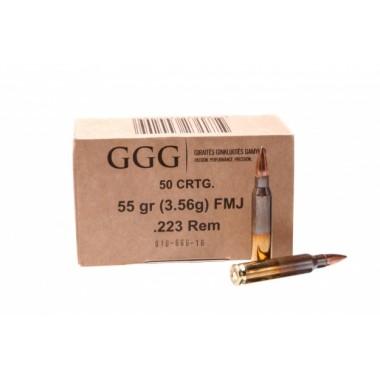 Патрон нарезной GGG 223Rem FMJ 55gr/3.56г (50шт)