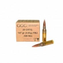 Патрон GGG FMJ 147 gr. 308Win (9,65г) FMJ 20 шт/упак