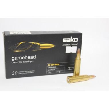 Патрон нарезной Sako Gamehead 22-250 SP 50gr/3.2г (20шт)