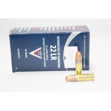 Патрон нарезной CCI Subsonic Segmented 22Lr CPSHP 40gr/2,6г (50шт)